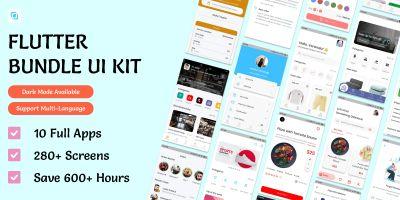 Flutima - Flutter UI Ultimate Bundle Kit