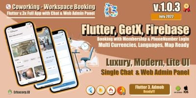 Coworking - Workspace  Flutter App And Admin