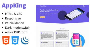 AppKing - Mobile Application Landing Page Template