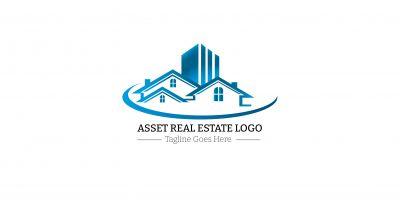 Asset Real Estate Logo Design Template