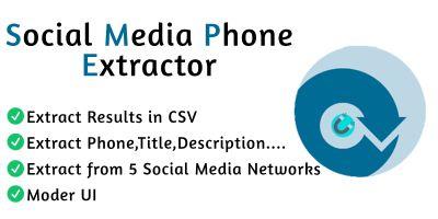 Social Media Phone Extractor Pro C#