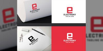 Electrony Letter E Logo