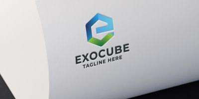 Exo Cube Letter E Logo