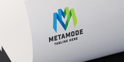 Meta Mode Letter M Logo