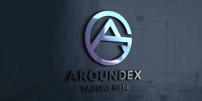 Aroundex Letter A Logo