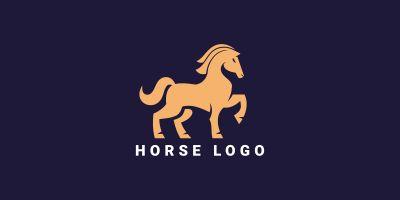 Horse Creative Logo Template