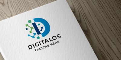 Digitalos Letter D Logo