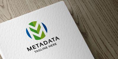 Meta Data Letter M Logo