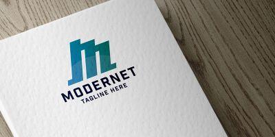 Modernet Letter M Logo