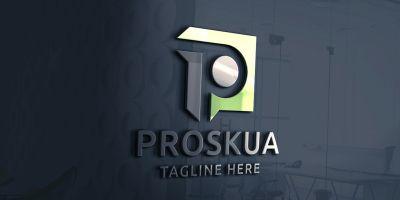 Professional Square Letter P Logo