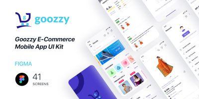 Goozzy  E-Commerce Mobile App UI Kit Figma