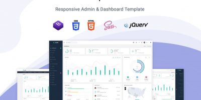 Upzet - Admin And Dashboard Template