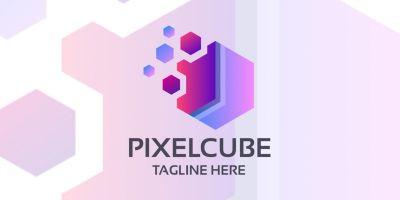 Pixel Cube Company Logo