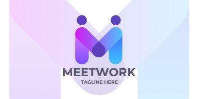 Meet Work Letter M Logo