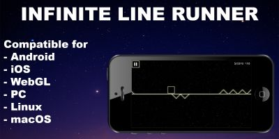 Infinite line runner - Unity Game With AdMob Ads