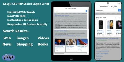 Search  Engine - Google CSE PHP Search Engine