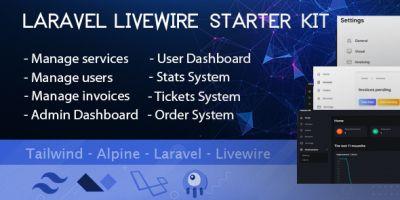 Laravel Livewire Multipurpose Starter Kit