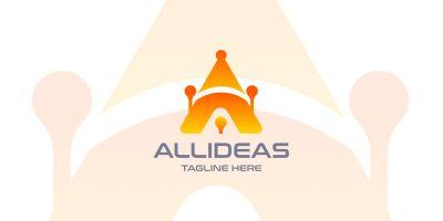 All Ideas Letter A Logo