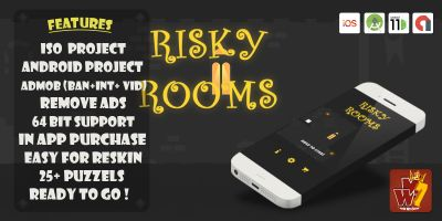 Risky Rooms - Buildbox Template