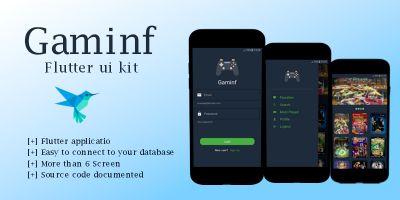 Gaminf - Flutter UI Kit