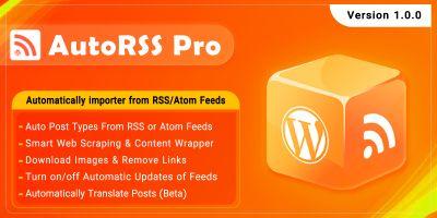 AutoRSS Pro - RSS Import WordPress Plugin