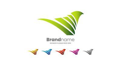 Love Bird Logo Design Template