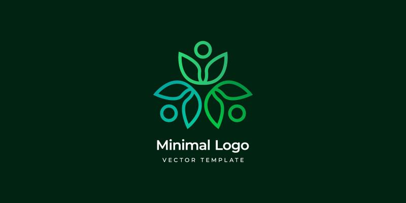 Minimal eco logo template