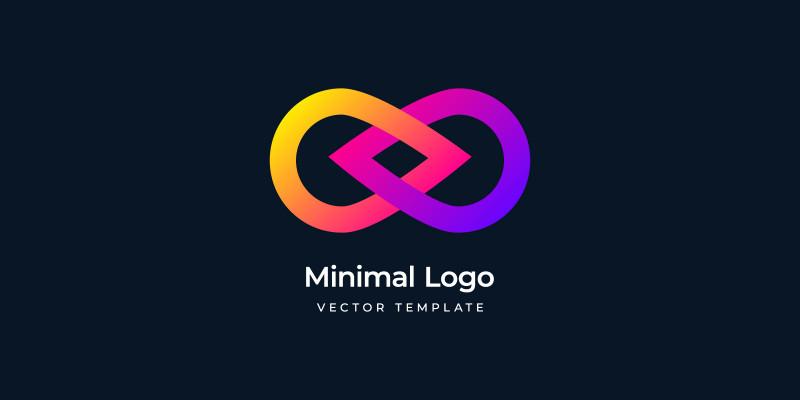 Minimal infinity Motion Logo template