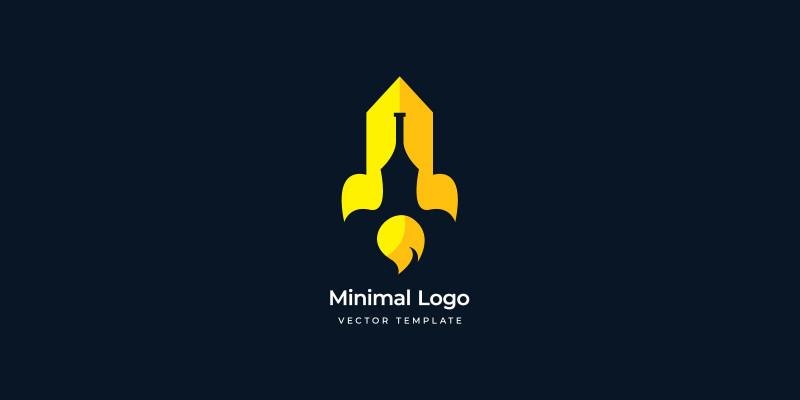 Bottle And Rocket Versatile Logo Template