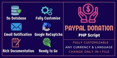Paypo - Paypal Donation PHP Script