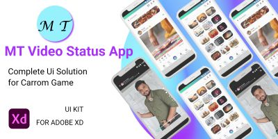 MT Video Status App For Adobe XD