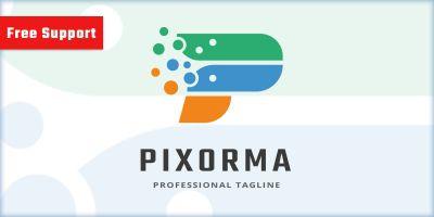 Pixel Performance Letter P Logo