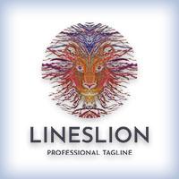 Lines Lion Logo