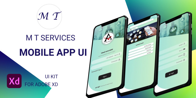 MT Online Services UI  For Adobe XD