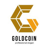 GC Letter Gold Coin Logo