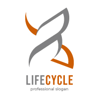 X Letter Life Cycle Logo