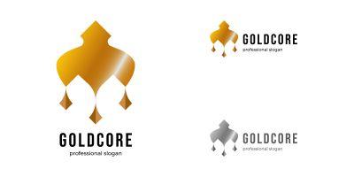 Gold Core Ornament Logo Template
