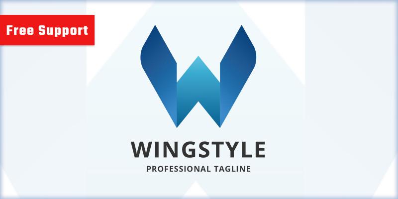Wing Style Letter W Logo