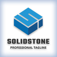 Solid Stone Letter S Logo