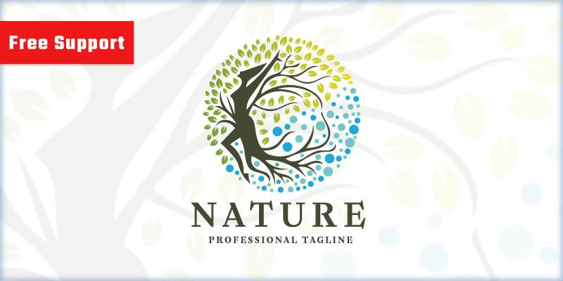 Nature Woman Beauty Logo