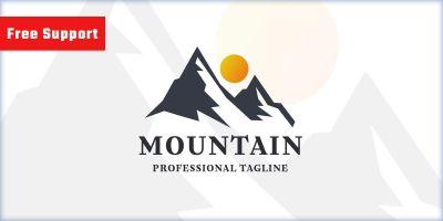 Mountain Letter M Nature Logo