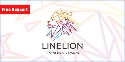 Line Lion Logo