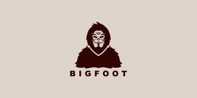 Bigfoot Yeti Vector Logo