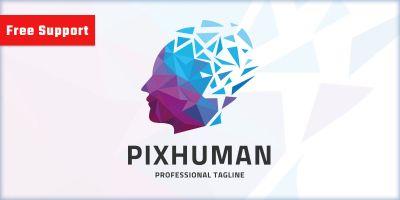 Pixel Human Logo