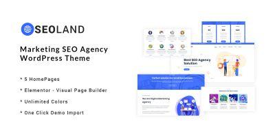 SEOLand - Marketing SEO Agency WordPress Theme