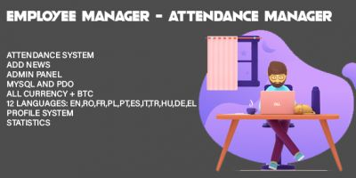 Employee Manager - Attendance Manager PHP Script