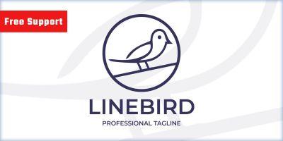 Line Bird Logo