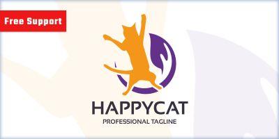 Happy Cat Pet Shop Logo