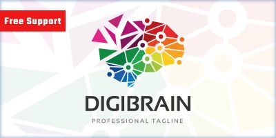 Professional Digital Brain Logo