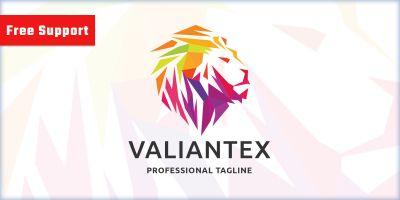 Pixel Valiant Lion Logo